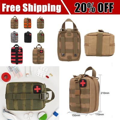 Outdoor Travel First Aid Kit Tactical Waist Pack Camping Bag Emergency Case AH