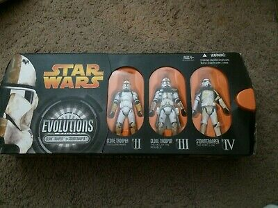 Star Wars Evolutions Clone Trooper to Stormtrooper 3 Pack SEALED Hasbro