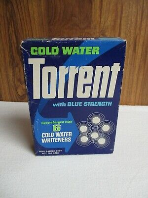 Vintage Torrent Cold Water Box – Trial Sample Only - Collectable Packaging