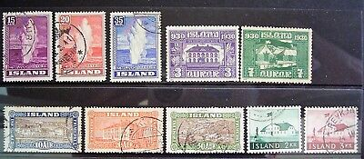 Iceland - Old World Mixed Lot, Good Used/Mint Stamps As Photographed