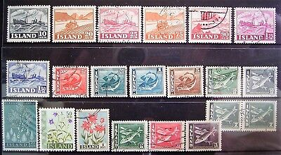 Iceland - Old World Mixed Lot, 21 Good Used/Mint Stamps As Photographed
