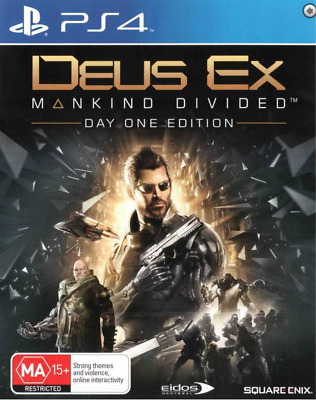Deus Ex Mankind Divided Day One Edition PS4 Playstation 4 PS4 Video Game