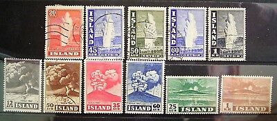 Iceland - Old World Mixed Lot, 11 Good Used/Mint Stamps As Photographed