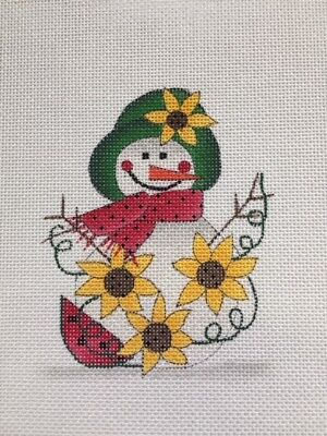 Renaissance Design August Snowman Needlepoint Canvas NEW