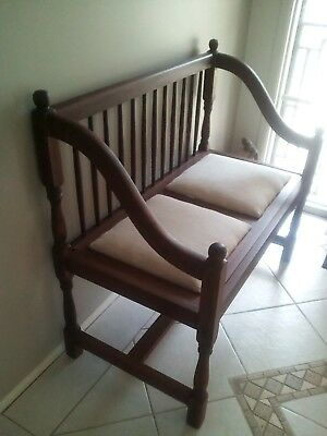 Bench seat, Rosewood , vintage, entry seat, very good condition.