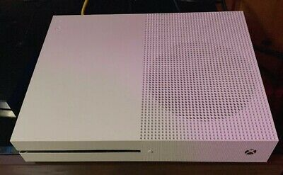 Microsoft Xbox One S 1TB White CONSOLE AND CABLES ONLY!!