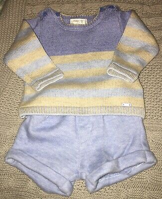 baby boys mayoral 2 piece set 1-2m very good condition