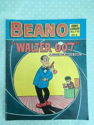 Beano Comic Library 110 Walter 007 Dennis The Menace Story Vintage Magazine Book