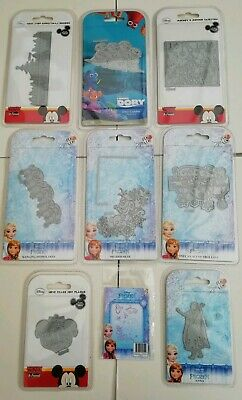 Bundle Job Lot of 9 Disney Dies & Stamps Frozen Finding Dory Mickey Minnie Mouse