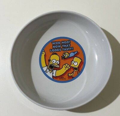 Kinnerton Cereal Bowl The Simpson's Ceramic White With Homer/Bart/Maggie 2005
