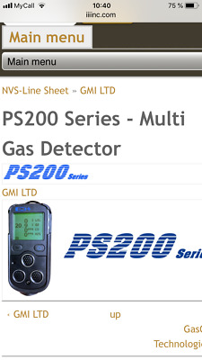 GMI PS200 gas detector H2S O2 CH4(LEL) CO c/w charger - DIFFUSION