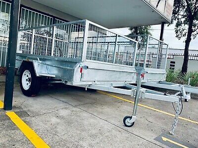 New 8x5 Full Welded Galvanised Box Trailer with 600mm Cage & Tipping