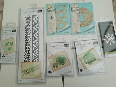 Bundle Job Lot of 17 Intricutz & Spellbinders Dies Optical Illusion Decagon View