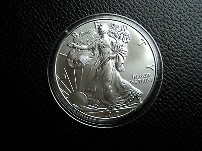 SILVER EAGLE 2017 USA  1 Oz Silber 999 American Liberty in Kapsel