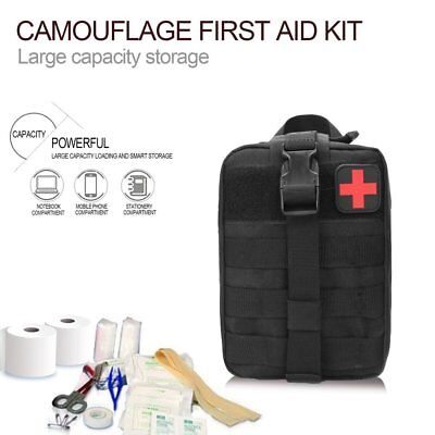 Outdoor Travel First Aid Kit Tactical Waist Pack Camping Bag Emergency CaseWY