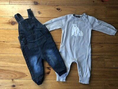 Baby Dungarees Bundle Gap Mothercare 6-9 Months