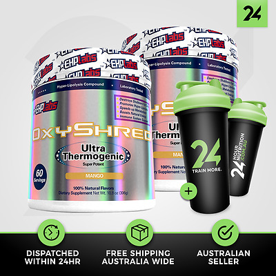 2 X OXYSHRED by EHP LABS | Weight Loss | Thermogenic | EHPLabs | Free GIFT!