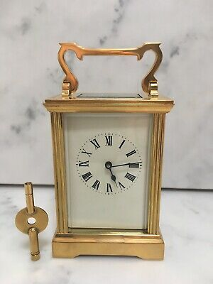 Brass & Bevell Edgeg Glass Carriage Clock