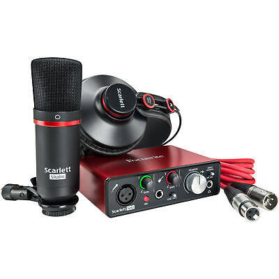 Focusrite SCARLETT SOLO STUDIO (2nd Gen) USB Audio Interface BUNDLE
