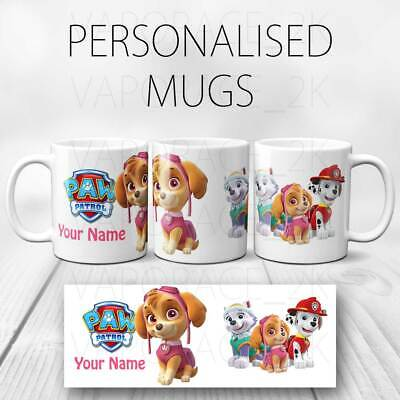 NEW Paw Patrol Personalised Mug, Ideal Gift Birthday Easter Christmas girls