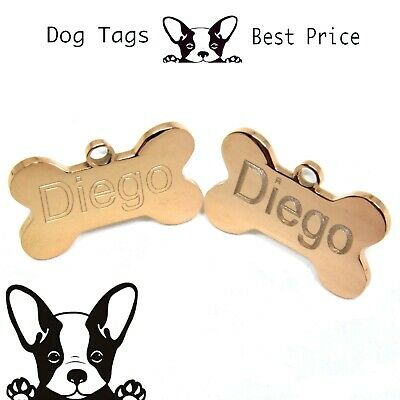 Engraved Pet Tags Nickel DOG ID Disc Rose Gold Deep Engraving Name Identity
