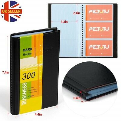 Business Card Holder Organizer Book Booklet Wallet Holder - PU Leather 300 Cards