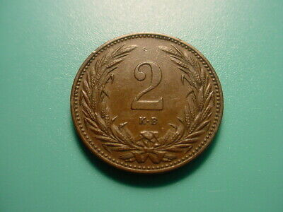 Hungary 1894 2 Filler In Excellent Condition