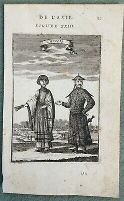 China 1683 Alain Manesson Mallet Antique Copper Engraved View