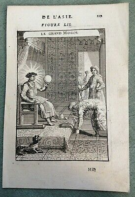 India The Great Mogul 1683 Alain Manesson Mallet Antique Copper Engraved View