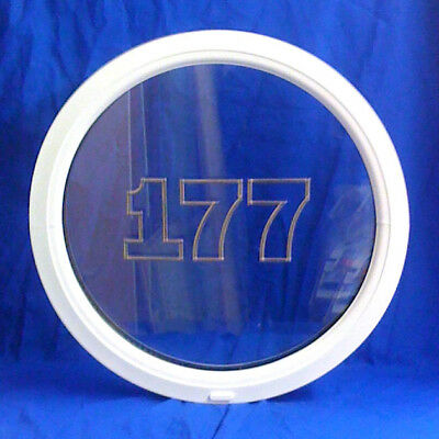 uPVC PVC Plastic Round Porthole Circle Circular Window - Clear Double Glazed