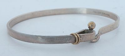 Fine Tiffany & Co Vintage sterling silver & 18K solid Yellow Gold bracelet