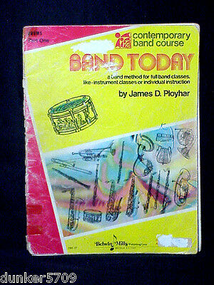 1977 Contemporary Band Course Band Today Drums Part 1 Belwin Mills Paper Back