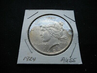 1924 Peace Silver Dollar -- barely circulated