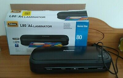 A4 Fellowes laminator in box L80 home use up to 80 microns