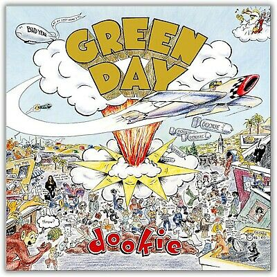 GREEN DAY Dookie BANNER HUGE 4X4 Ft Fabric Poster Tapestry Flag Print album art