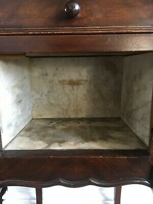 Pretty Antique French Marble Top Cabinet Pot Cupboard with Drawer