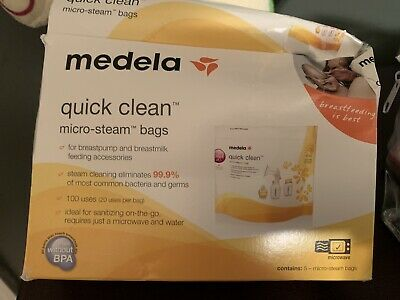 Medela Quick Clean Steam Bags For Baby Bottles Pack Of 4 Sterilize