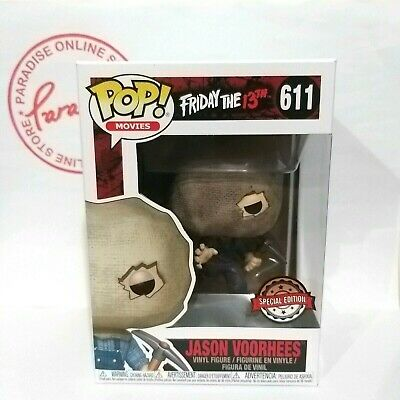 Funko POP Friday the 13th Horror Jason Voorhees w/ Bag Mask #611 Exclusive