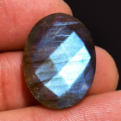 14.1 Ct. Natural Labradorite Oval Faceted Gemstone 20X15X6 mm DS-1024