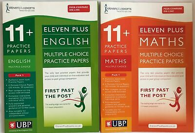 11+ English & Maths Multiple Choice Practice Papers Pack 1 NEW!!!!!