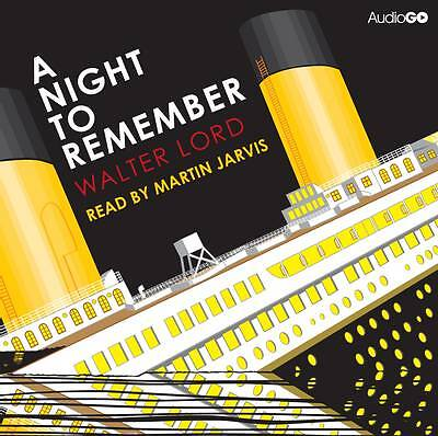 A Night To Remember - Martin Jarvis 4 Cd Audio Book New/sealed - Unabridged