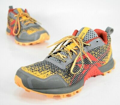 Reebok Men s Outdoor Wild Trail Running Shoes Size 9 Red Yellow V5255 RARE cc8464bdb
