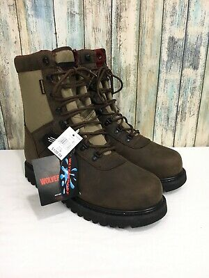"37f364f2d26 WOLVERINE BIG HORN Men 13 Brown Waterproof Leather Insulated 10"" Boots  W30089"
