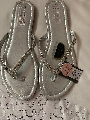 5943a9ba353 ZARA SILVER GREY Leather Crossover Sandal Shoes with Diamante Jewels ...