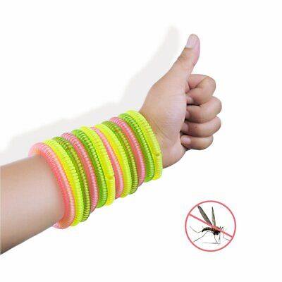 Anti Mosquito Insect Repellent Wrist Hair Band Bracelet Camping Outdoor 12PCs