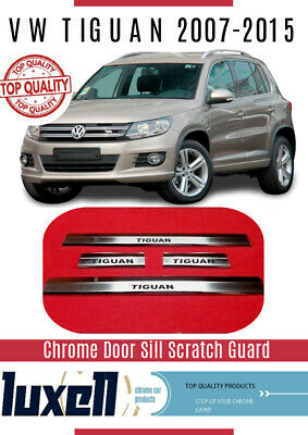 2007-2015 VW TIGUAN Chrome Door Sill Scratch Guard 4dr S.Steel