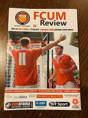 Fc United Of Manchester V Brackley Town Matchday Programme 22/08/15