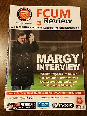 Fc United Of Manchester V Hednesford Town Matchday Programme 28/12/15
