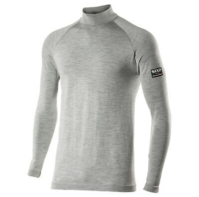 Maglia SIXS Mod TS3 MERINOS Lupetto maniche lunghe Carbon Merinos Wool TG S/M