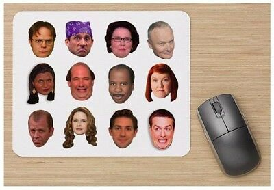 The Office Characters Tv Show Mousepad Funny Cute Gift